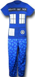 Doctor Who Women's Tardis Glow In The Dark Pajama Set