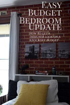 Budget Bedroom Update #designerssweetspot