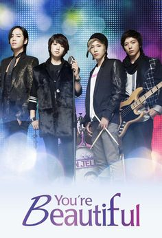 You're Beautiful (2009)  The management company of the idol group A.N.JELL insisted on adding a new singer to the group as the lead vocal, Tae Kyung's voice was hurting. However,the new member, Mi Nam, had to go to the States to repair a botched eye job just before signing the contract. His agent came up with the idea of having his twin sister, Mi Nyu,to stand in for him and pretend that she was her brother.