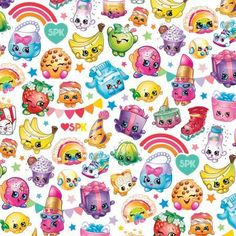 Shopkins Packed Rainbow Celebration Cotton Fabric Quilt Fabric by JdawnsFabricsAndMore on Etsy Shopkins Room, Shopkins Rainbow, Cute Girl Drawing, Cool Fabric, Woven Fabric, Cellphone Wallpaper, Online Craft Store, Joann Fabrics, Wallpaper Quotes