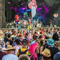 Spotted myself again from the Saturday pics on Okeechobee's page. If y'all find any pics of me (squid hat an mushroom totem) tag me in them please !