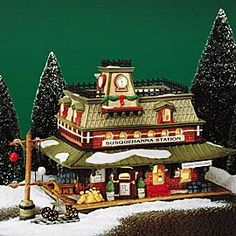 """Department 56: Products - """"Susquehanna Station"""" - View Lighted Buildings"""