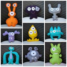 Felt monsters - so stinkin' adorable!