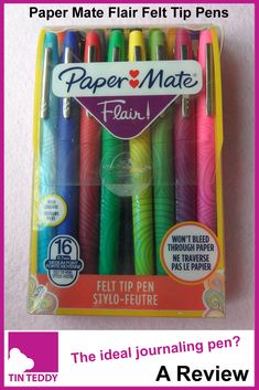 Paper mate flair - Paper Mate Flair Felt Tip Pens the perfect journalling pen – Paper mate flair Cool School Supplies, Notebook Paper, Felt Patterns, Writing Styles, Marker Pen, Too Cool For School, Pen And Paper, Journalling, Paper Clip