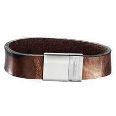 Referência  PJ.25494BLC_01-L POLICE JEWELS Mod. SERGEANT Bracciale pelle camuflage marrone con magnete/ Brown camouflage leather bracelet with magnet
