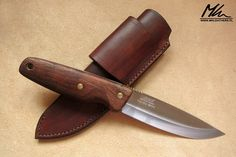 Leather sheath with horizontal carry. www.mkleathers.pl