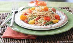 Bacon Parmesan Summer Pasta - Picky Palate
