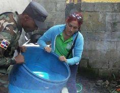 Área VII de Salud realiza jornada de eliminación de criaderos de mosquitos en Las Caobas