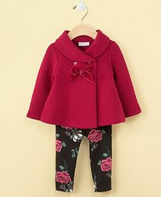 Rounded collar Baby Girls Jacket