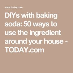 DIYs with baking soda: 50 ways to use the ingredient around your house - TODAY.com