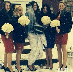 Beautiful Berta bride in a sub-zero wedding :-)