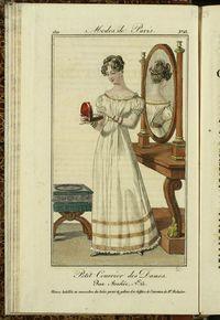 Petit Courrier des Dames : annonces des modes, des nouveautés et des arts del 15 de Julio de 1822