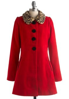 Red It All Before Coat $199.00  Wish the collar was removable, for those days when I want to be chic.