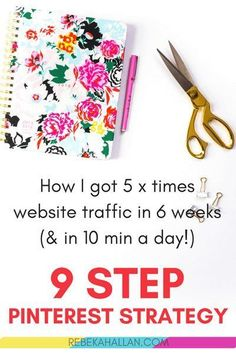 9 Step Pin & Repin Strategy | Pinterest is perfect for blog + websites in as little as 10 min per day. My pinning (& repinning strategy) got me 5 times website traffic little as 6 weeks.