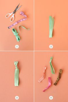 DIY Hair Ties- this is what I was telling you about Mallory....I think it's probably easier just to buy them though!