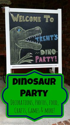 Dinosaur Birthday Party! Ideas for food, games, decorations and more!! SO FUN!!