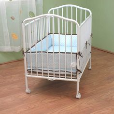 La Baby Compact Metal Folding Crib Chocolate Walmart