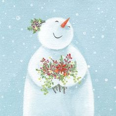 Winter Bouquet Christmas Card