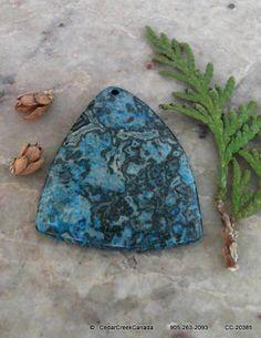 Blue Crazy Lace Agate Gemstone Pendant              99.5 carats                     CC-20385