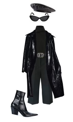 """Black"" by sebastianm ❤ liked on Polyvore featuring Marni, Belstaff, Elizabeth and James, Haider Ackermann and Gucci"
