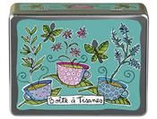 Valerie Nylin for Derriere La Porte.   Pretty storage for individually wrapped tea bags.