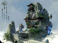china xianxia, lok du on ArtStation at https://www.artstation.com/artwork/china-xianxia