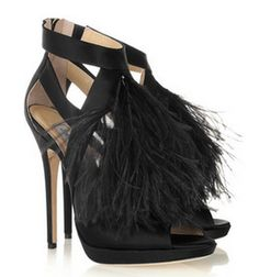 fcc5f177a3ff Jimmy Choo Teazer Feather-trimmed Satin Sandals