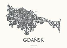 Plakat Gdańsk- szary | Designzoo