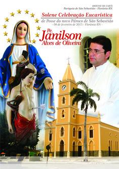 Capa do livro da celebração de posse do Pe. Janilson - Florânia-RN