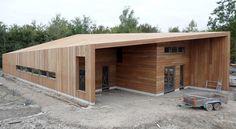 Houten gevel- en dakbekleding