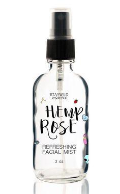 Hemp Rose and Aloe vera refreshing facial mist from www.staywildorganics.com