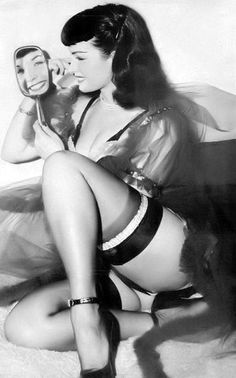 Betty Page. Love how she smiles so much! Sexy is fun not duck lips and looking starved!