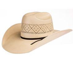 19dbf27f Tuf Cooper by American 20 Star Ivory Open Crown Solid Weave 4-1/4 Brim Straw  Cowboy Hat
