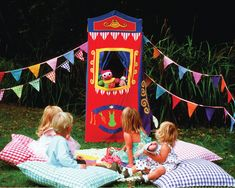 Spring has sprung! Time to pull out the Puppet Theatre for some backyard fun!