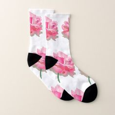 Pink roses socks - love gifts cyo personalize diy