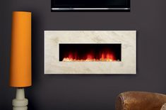 In Wall Electric Fireplace Contemporary : In Wall Electric ...