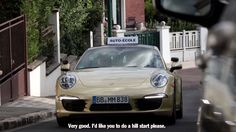 2 Funny ! ;-) Taking the driving test in a sports car.