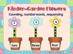 Students will enjoy making this adorable flower garden as they count, read number words, and sequence pots, stems and flower tops in order up to ten. This makes a terrific math center.