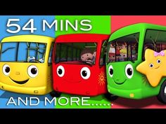 Wheels On The Bus | Plus Lots More Nursery Rhymes | 54 Minutes Compilation from LittleBabyBum! - YouTube