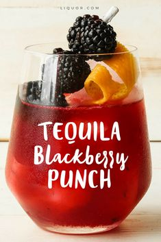 We love #tequila and a good #berry #punch