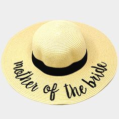 75cd958640a Ginga s Galleria Beige  Mother of the Bride  Embroidery Straw Floppy Sun Hat