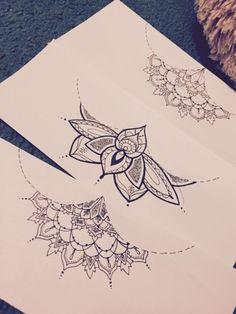 sternum tattoo sketch