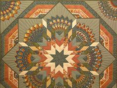 King Moss Terracotta and Gold Green Bertha Quilt Photo 3
