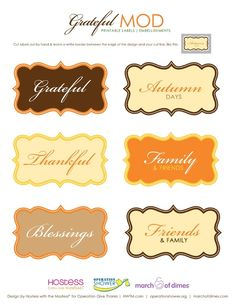 Thanksgiving printables - Click image to find more Weddings Pinterest pins