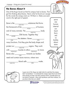 'Check Out the Atmosphere' - Free English Worksheet for Kids. Parts of Speech. Parts Of Speech Worksheets, 5th Grade Worksheets, Language Arts Worksheets, English Worksheets For Kids, Kids Math Worksheets, Free Printable Worksheets, Printables, Free Preschool, Learning Arabic