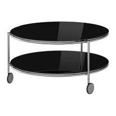 "STRIND coffee table, nickel plated, black Diameter: 29 1/2 "" Height: 15 3/4 "" Max. load: 33 lb Diameter: 75 cm Height: 40 cm Max. load: 15 kg"