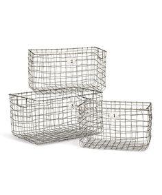 This Storage Wire Basket Set is perfect! #zulilyfinds