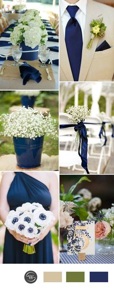 green and navy blue wedding color ideas for 2017