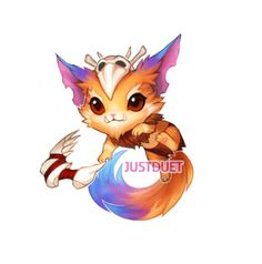 gnar, league of legends, lol, yordle, cute, orange,
