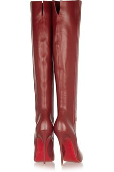 Christian Louboutin | Armurabotta 120 leather over-the-knee boots | NET-A-PORTER.COM